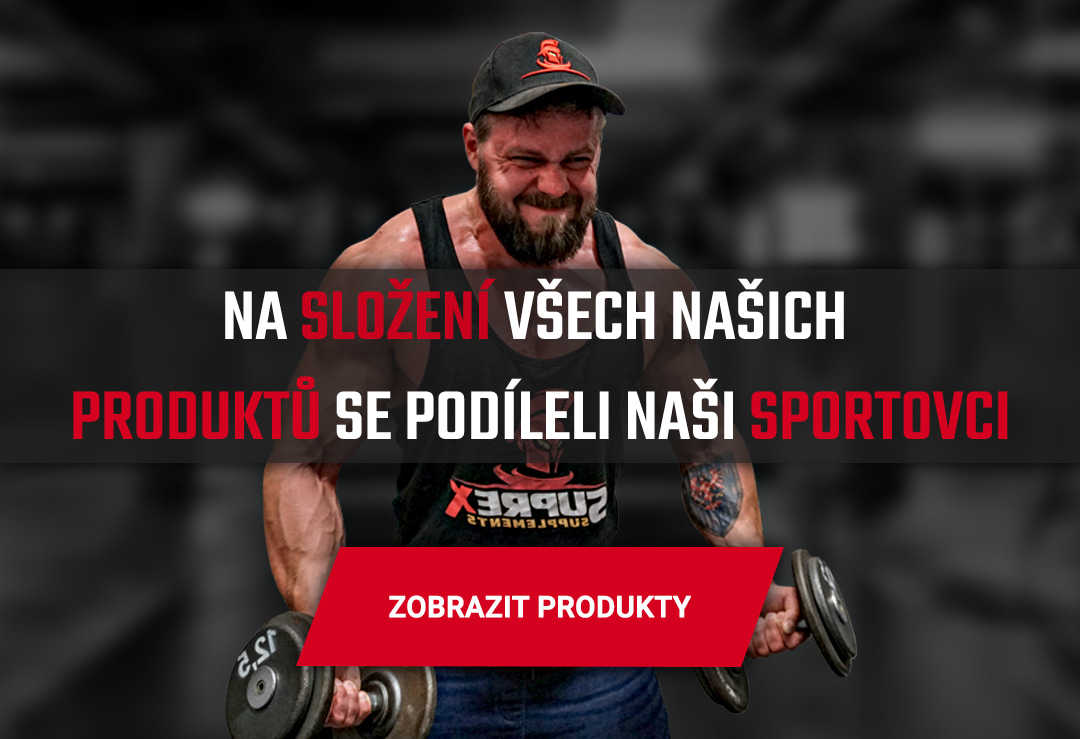 Na složení všech našich produktů se podíleli naši sportovci